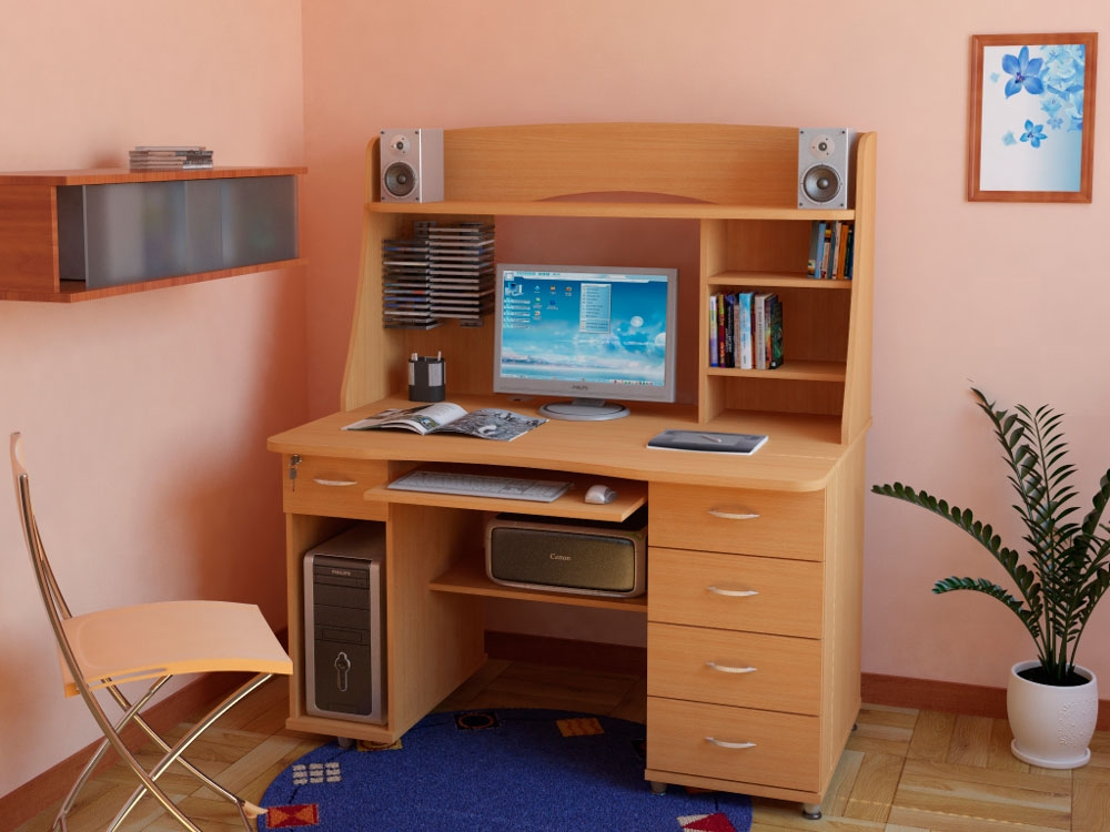 Прямые компьютерные столы - купить с доставкой по киеву и ук.