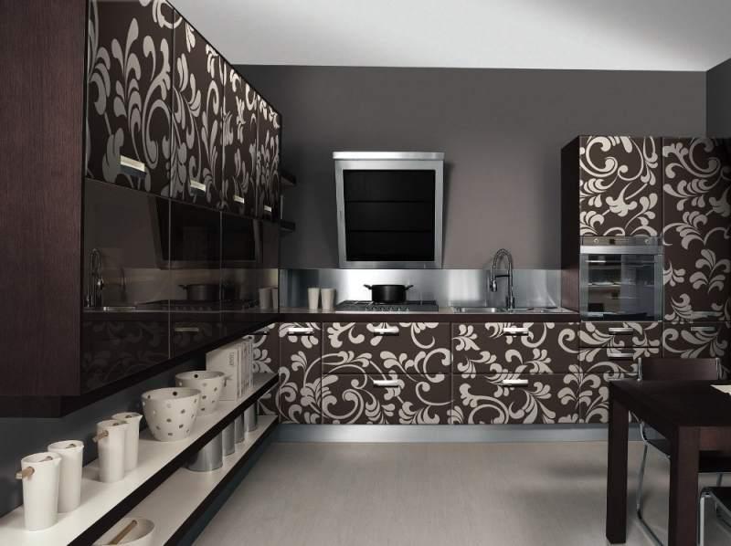фасады с рисунком для кухни фото