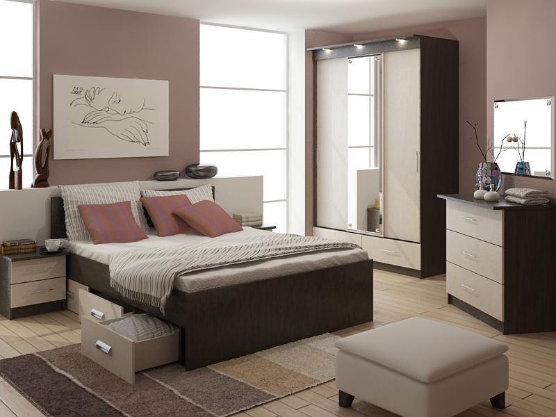 Спальный гарнитур в интерьере спальни